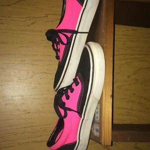 Shoes - Vans pink and black shoes